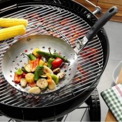 Wok de légumes avec poignée détachable pour barbecue 89250